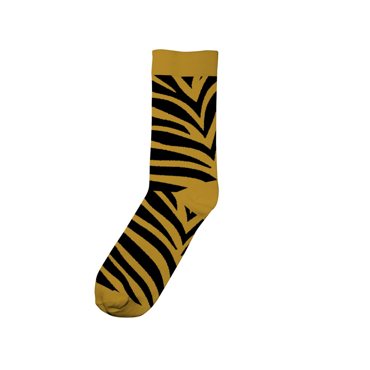 Socks Sigtuna Animal Pattern Golden Yellow
