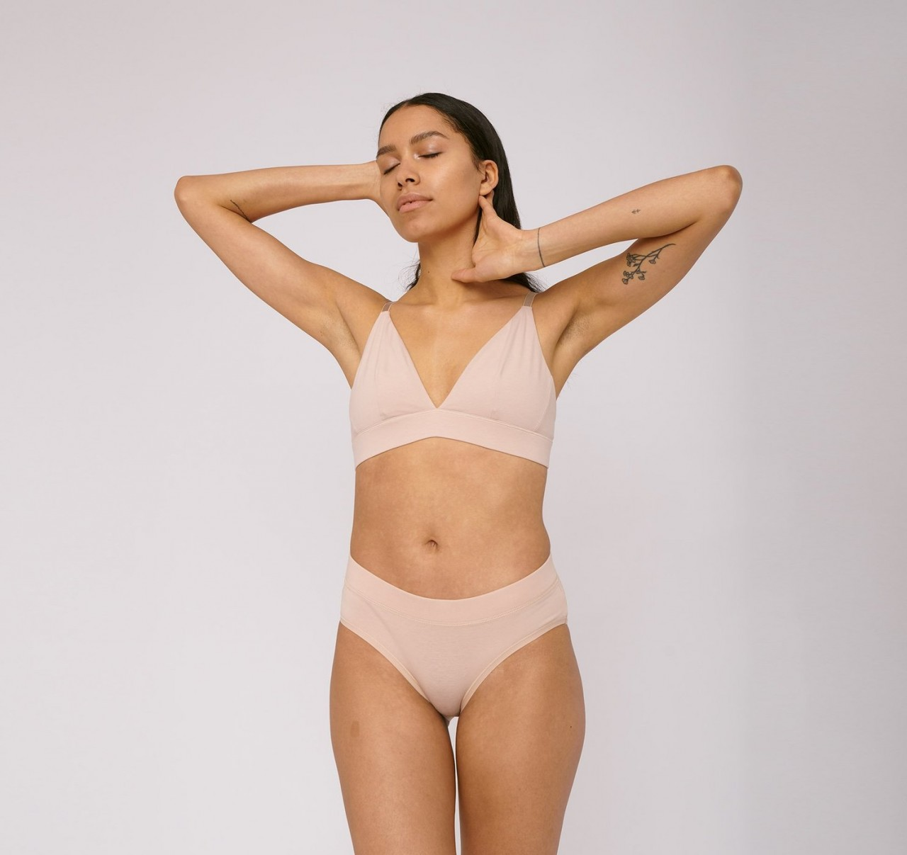 Organic Cotton Briefs 2-Pack Rose Nude