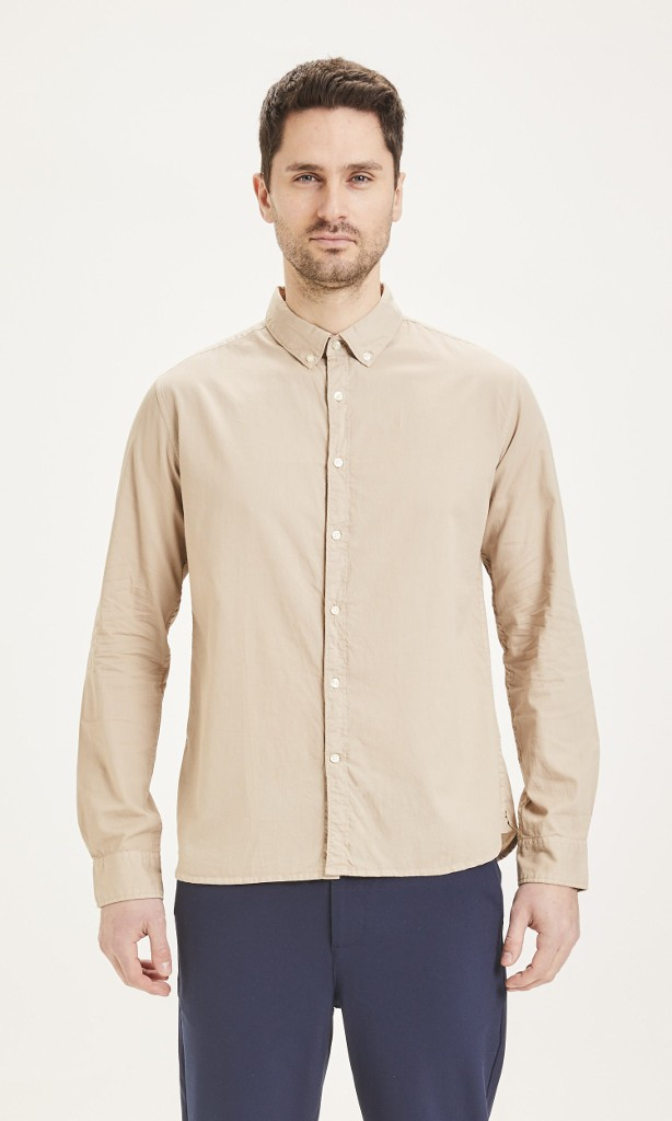 LARCH casual fit cord shirt - Vegan Light feather gray