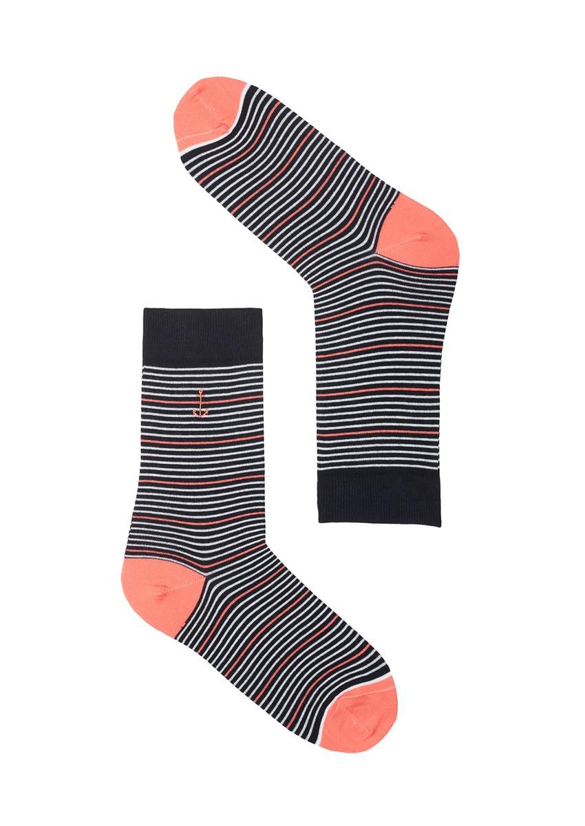 Basic Socks #STRIPES navy / mint / coral