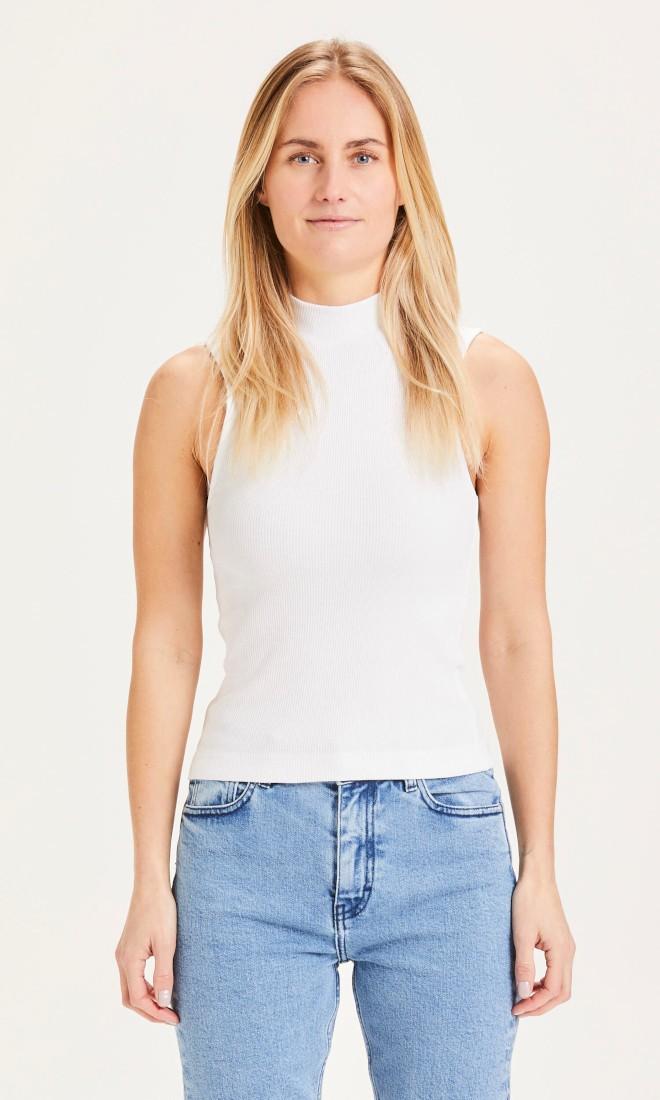 SUSAN high neck top - Vegan Bright White