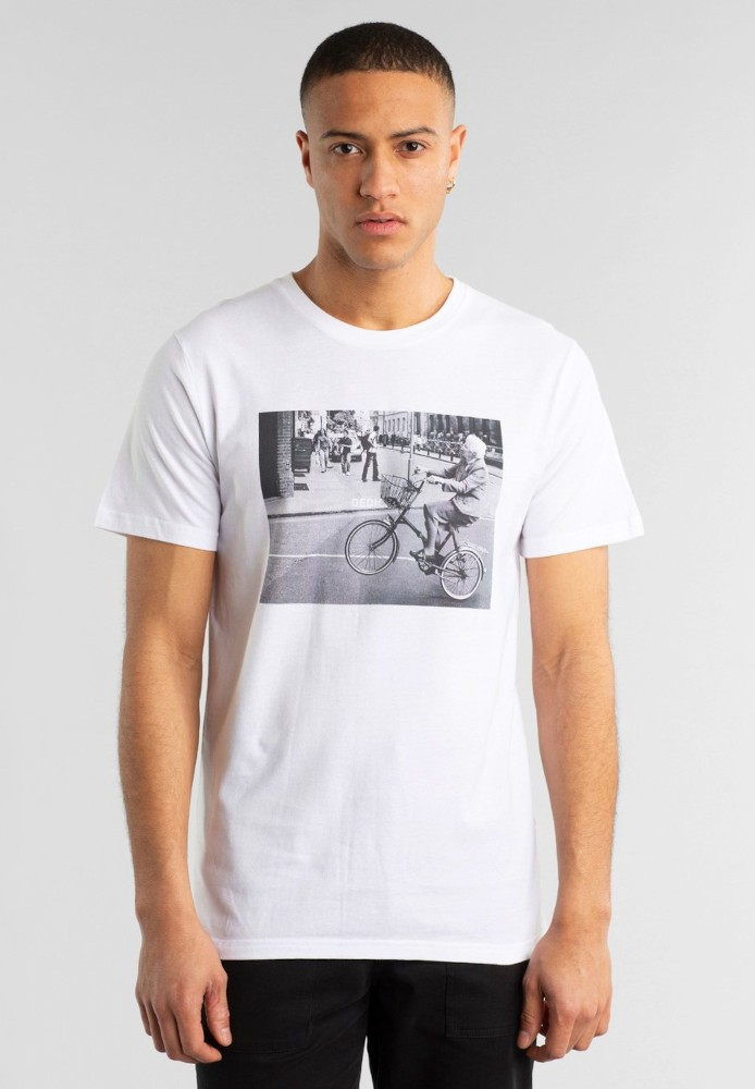 T-shirt Stockholm Bike Wheelie White