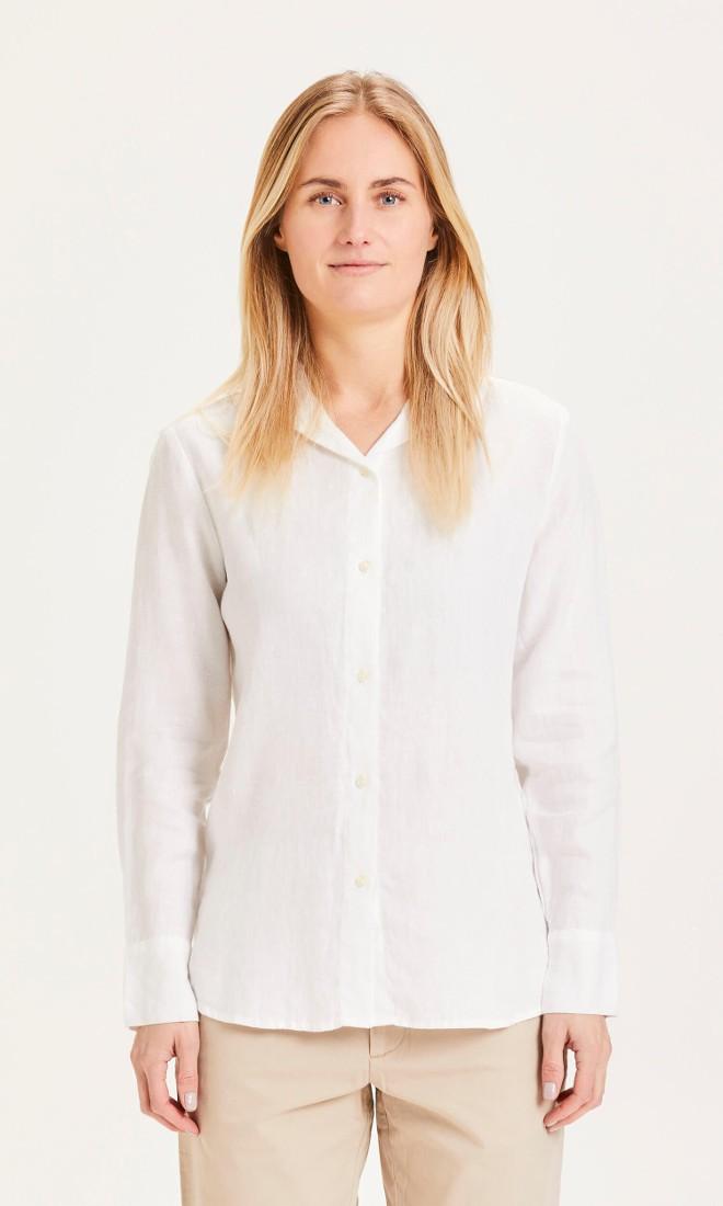 SAGE classic reg linen shirt Bright White