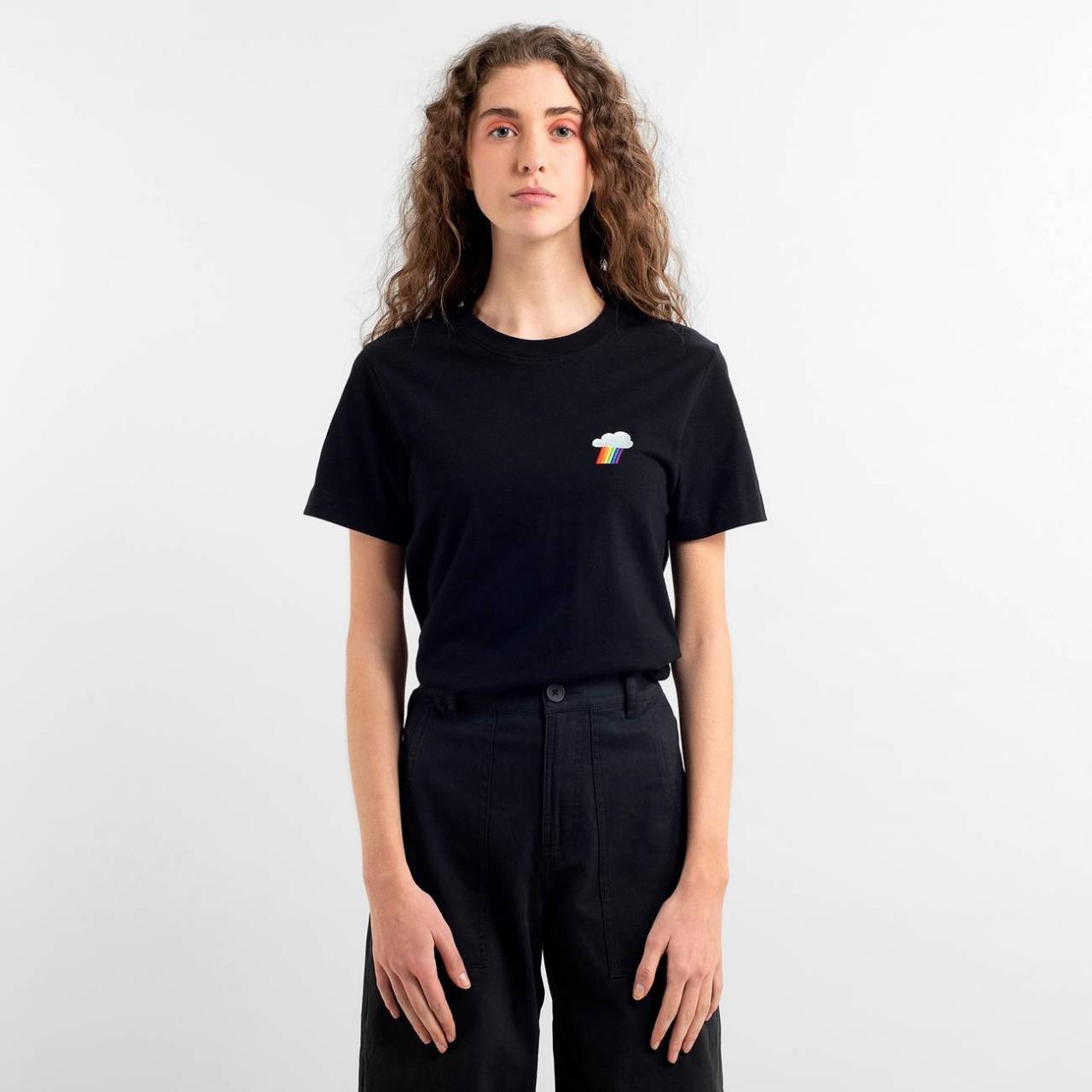 T-shirt Mysen Rainbow Cloud Black