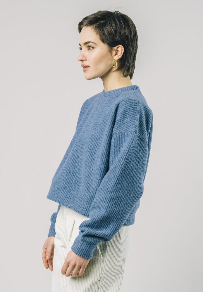 Jersey Cropped Sweater Ocean