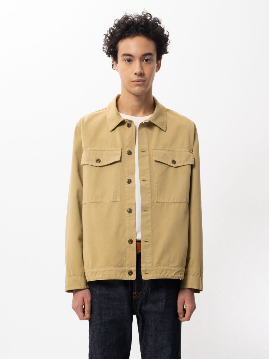 Colin Utility Overshirt Oat