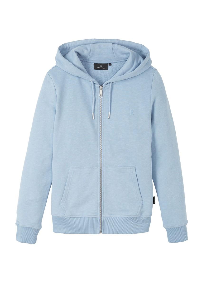 Basic Sweatjacket faded blue