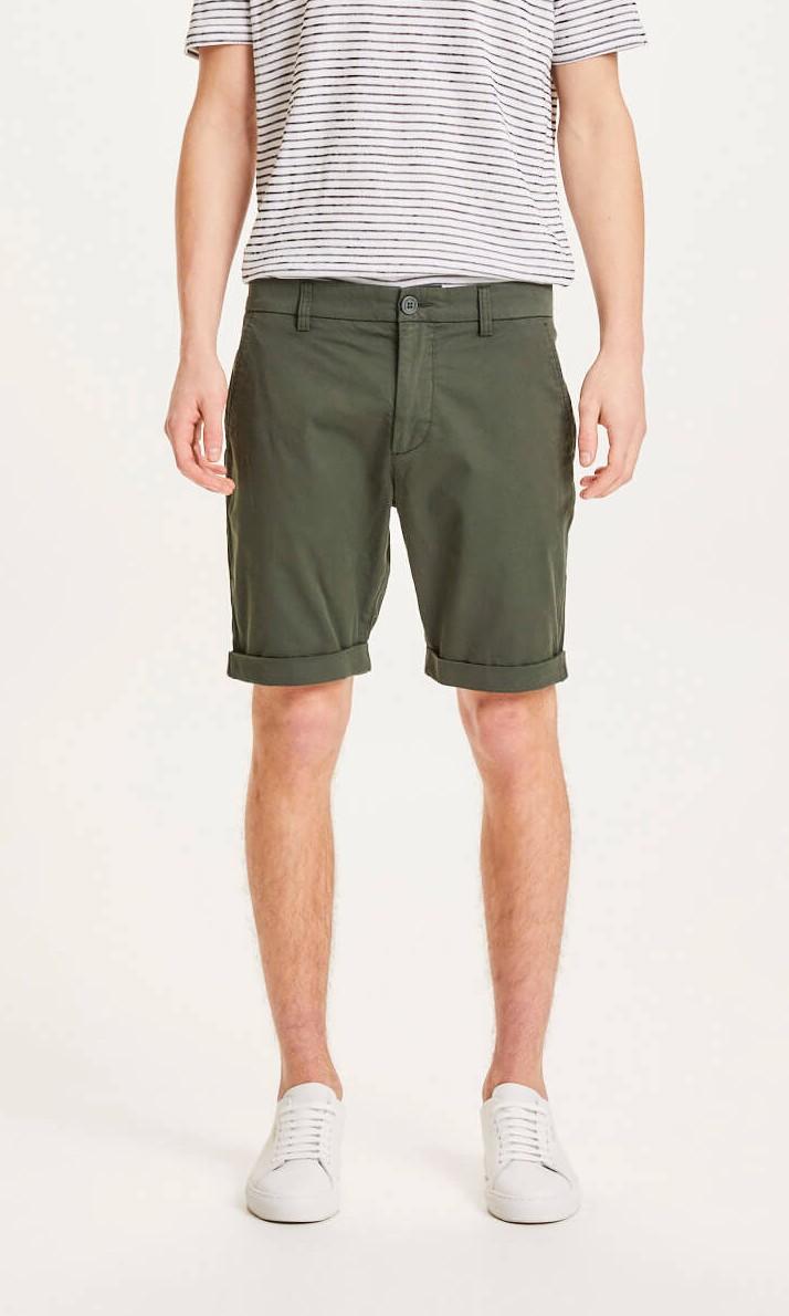 CHUCK regular chino poplin shorts Forrest Night