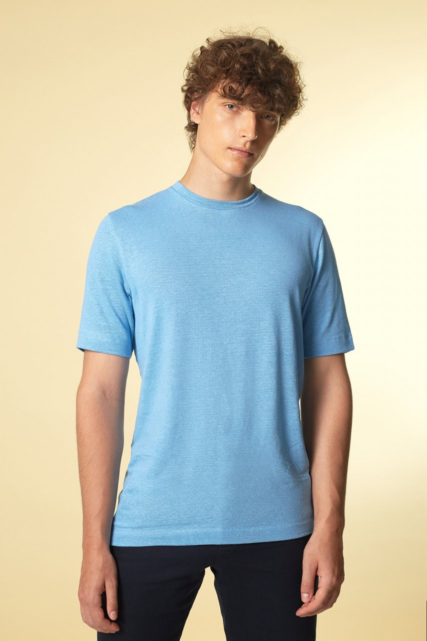 ICONIC T-Shirt Leinen hellblau
