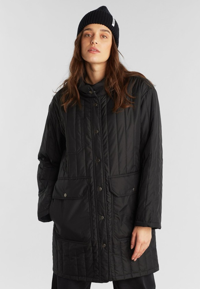 Quilted Coat Rosvik Black