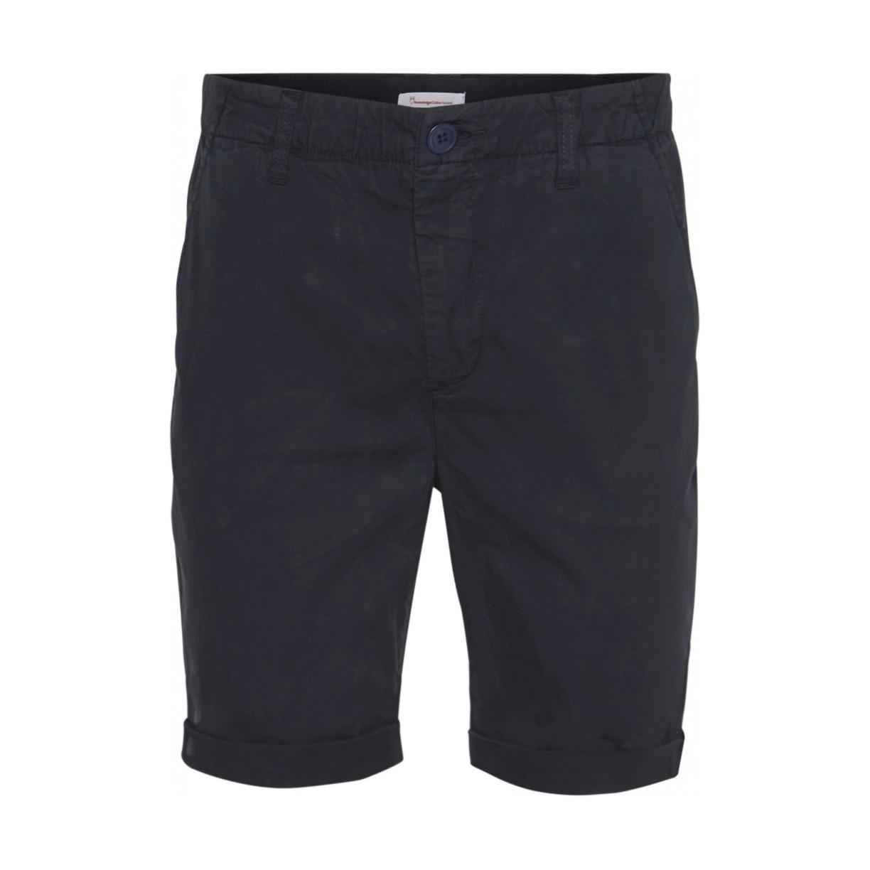CHUCK regular chino poplin shorts - Total Eclipse