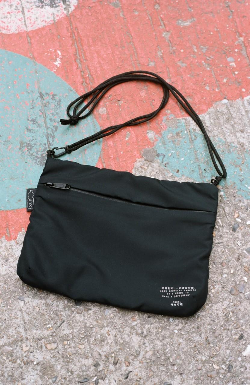 Cross Bag Black (inside Black/Grey)