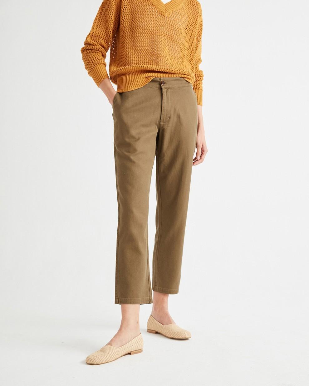 GREEN HEMP DAFHNE PANTS