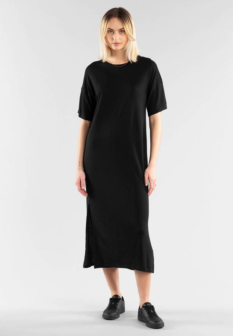 Long T-shirt Dress Ronneby Black