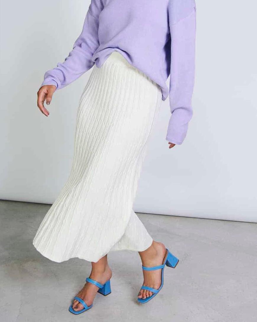 Knit Skirt HERTA offwhite