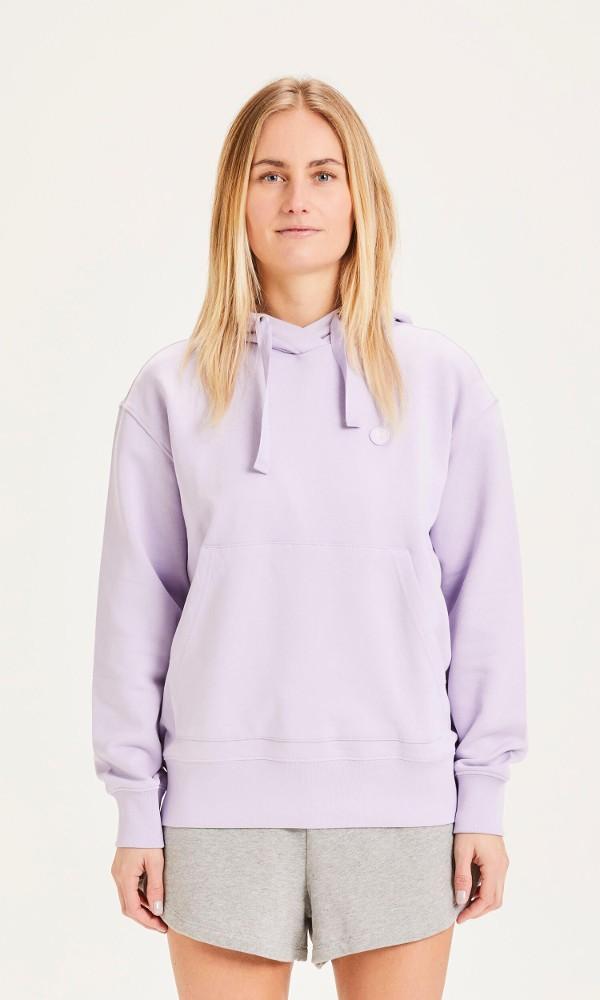 DAPHNE basic badge hoodie - Vegan Pastel Lilac