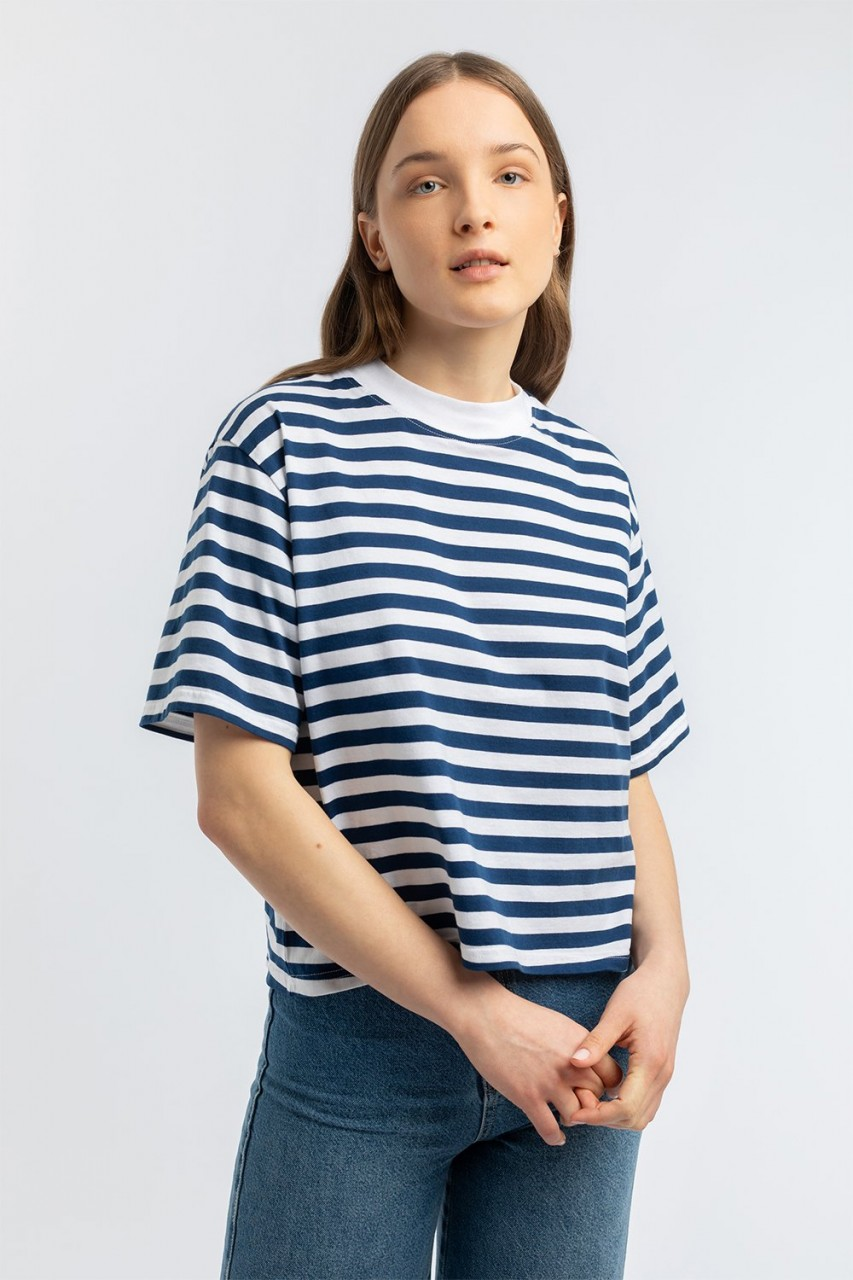 Cropped T-Shirt striped