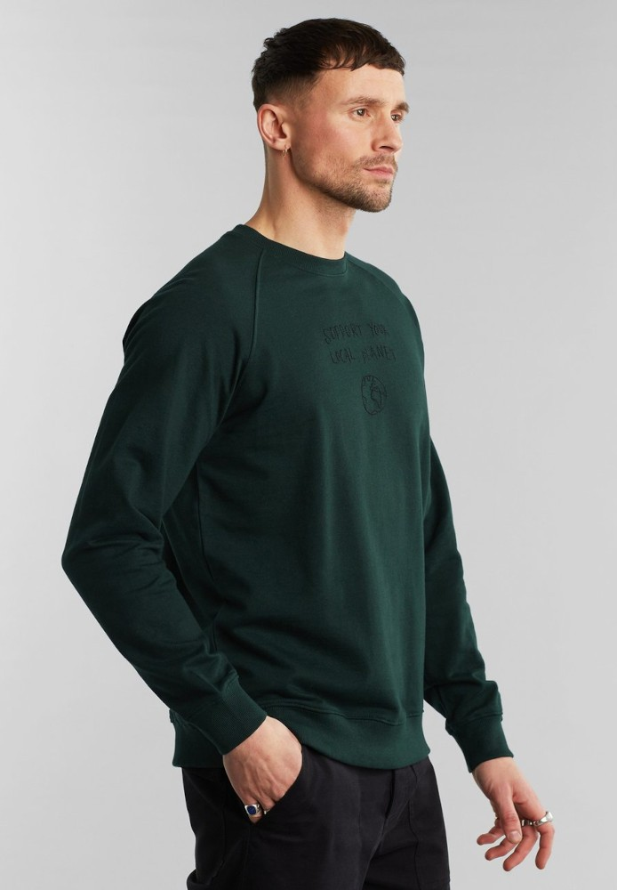 Sweatshirt Malmoe Local Planet Dark Green