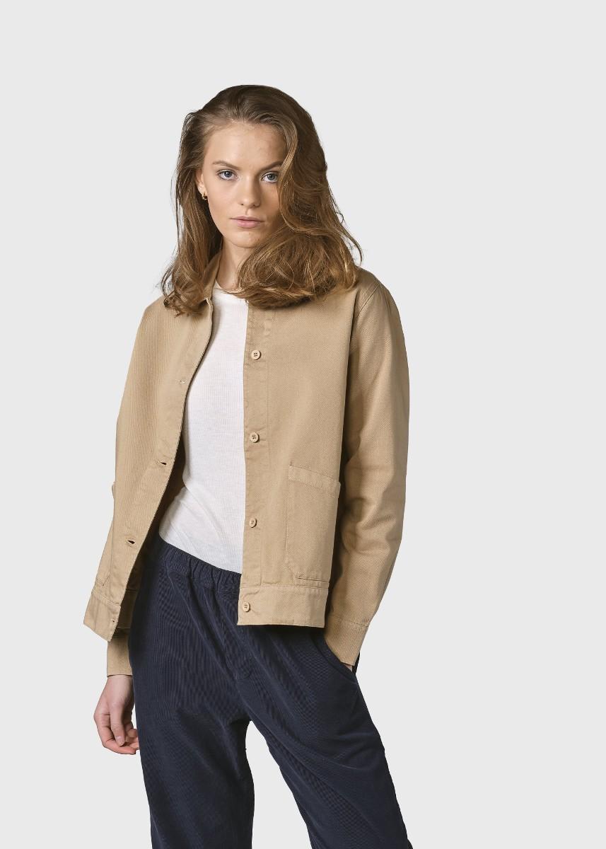 Rita twill jacket Sand