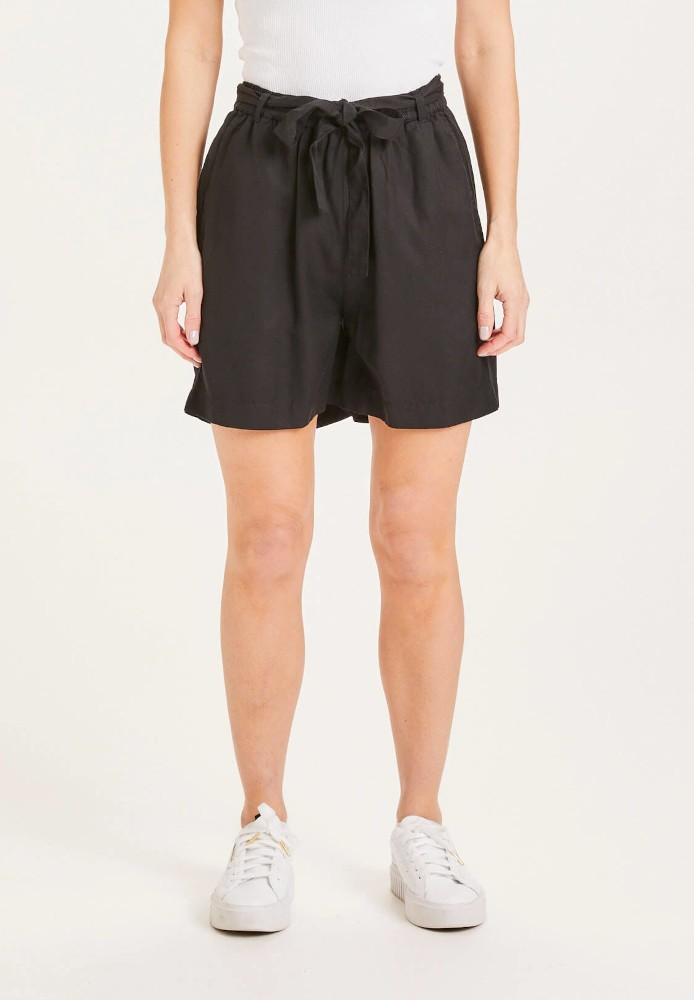 TULIP paper bag Tencel shorts - Vegan Black Jet