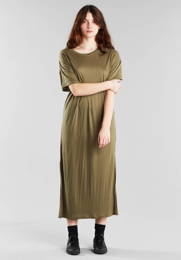 Long T-shirt Dress Ronneby Leaf Green