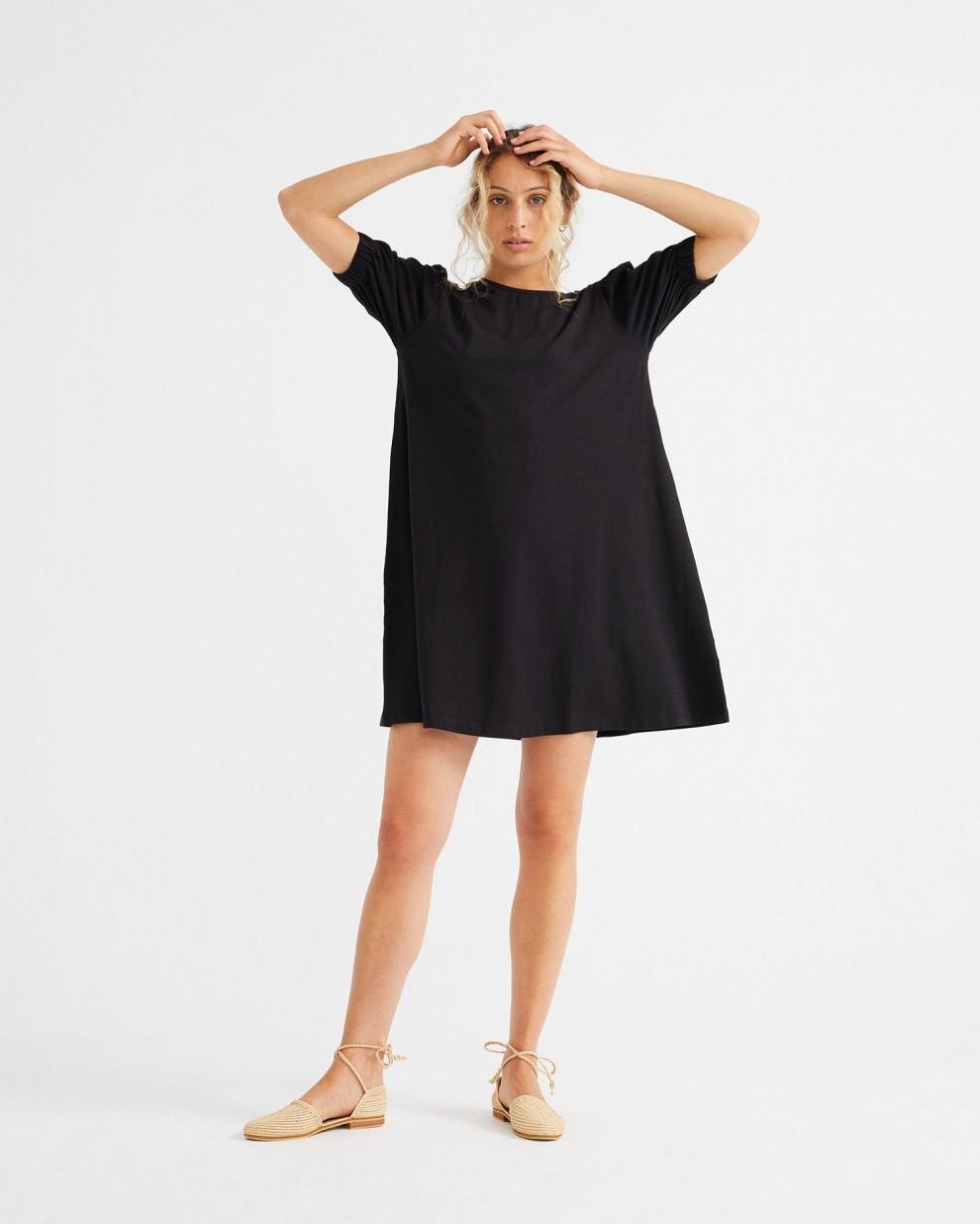 BLACK FLORETA DRESS