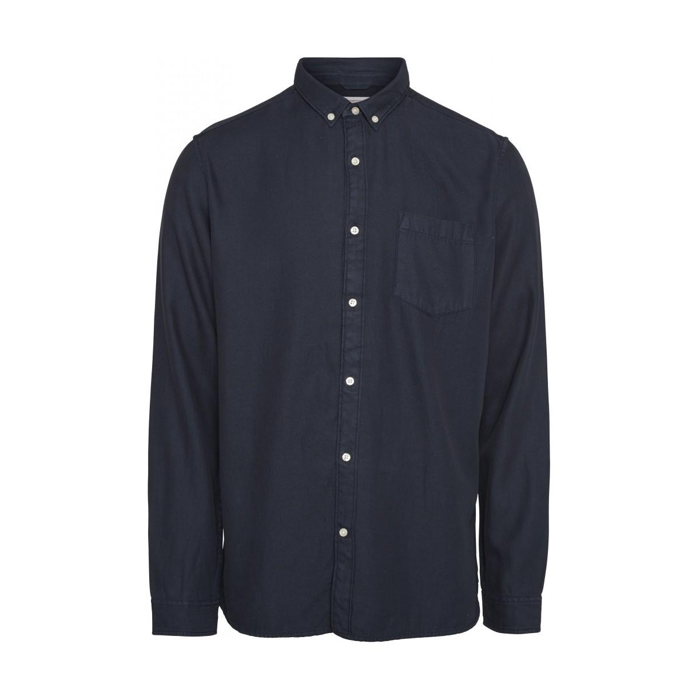 LARCH LS tencel shirt Total Eclipse