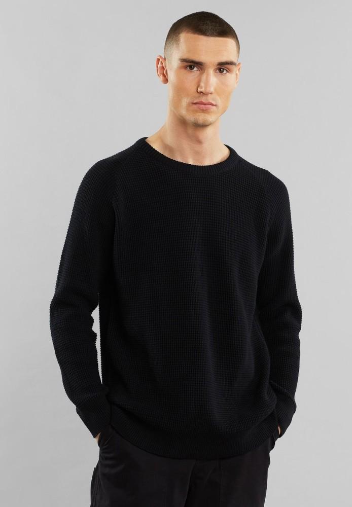 Sweater Karlskrona Transfer Knit Black