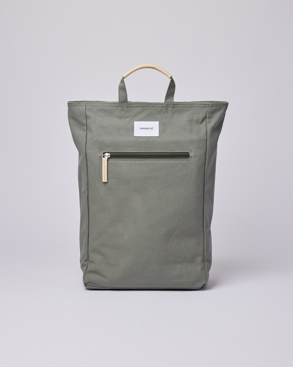 TONY Dusty green with natural leather