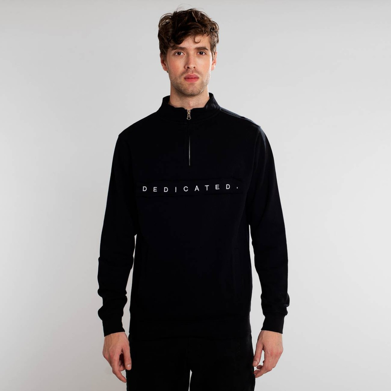 Sweatshirt Duved Dedicated Logo Black