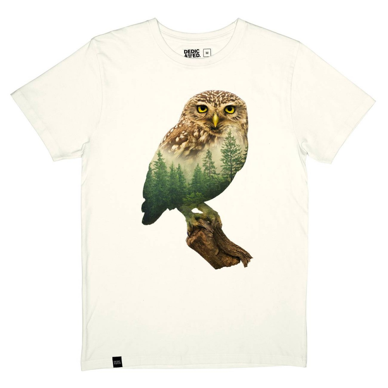 T-shirt Stockholm Forest Owl Off-White