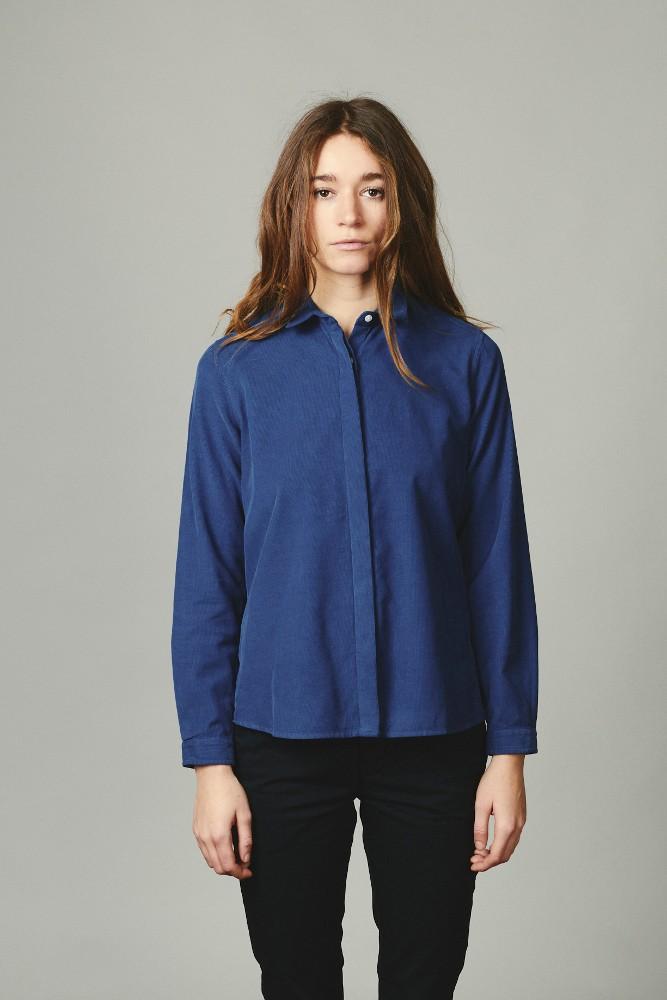 Julie corduroy shirt Ocean