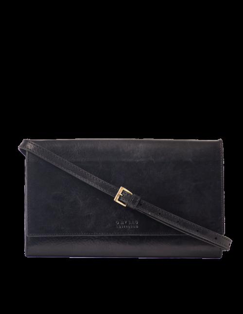 KIRSTY CLUTCH Eco-Black Stromboli Leather