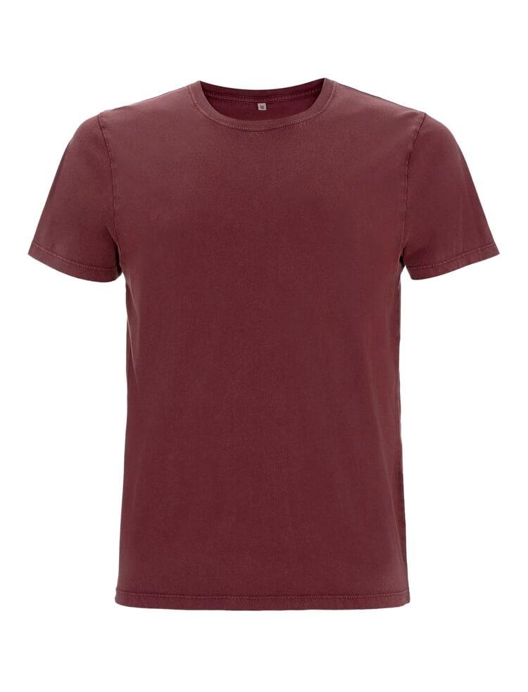 Earth Positive Unisex T-Shirt stone wash burgundy