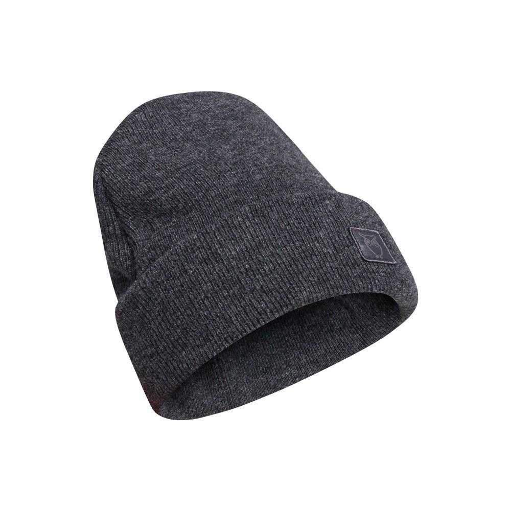 LEAF organic wool beanie Dark Grey Melange