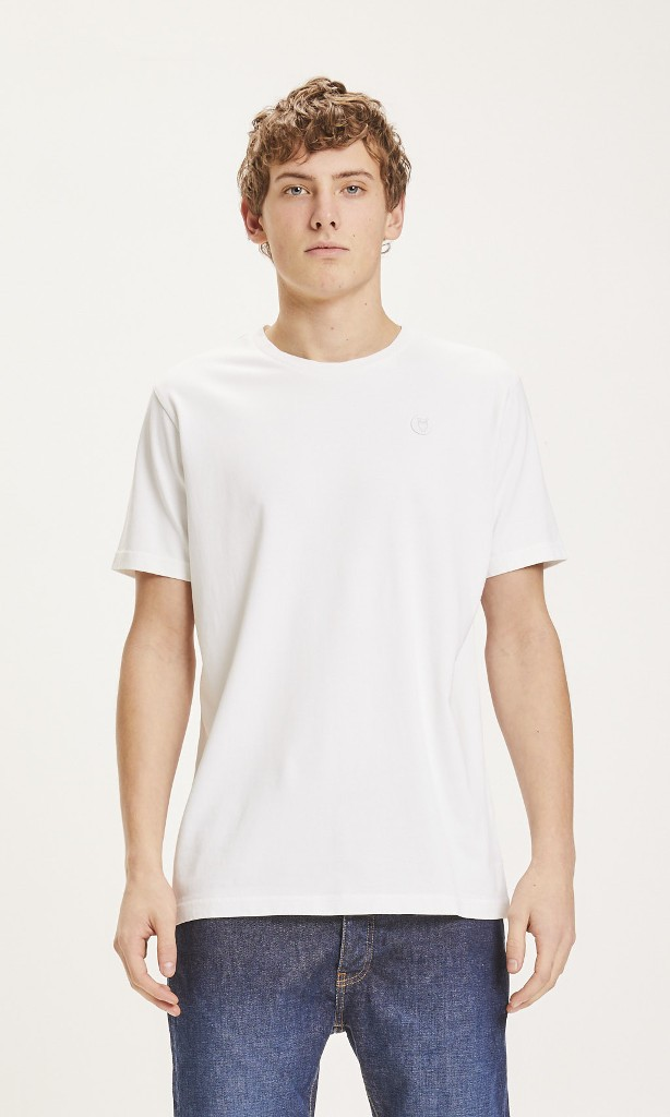 ALDER badge Tee - Vegan Bright White