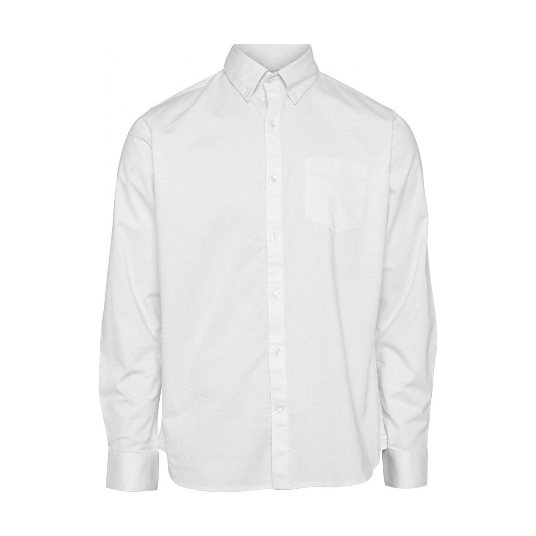 ELDER Regular fit Stretch Oxford Shirt - Vegan Bright White