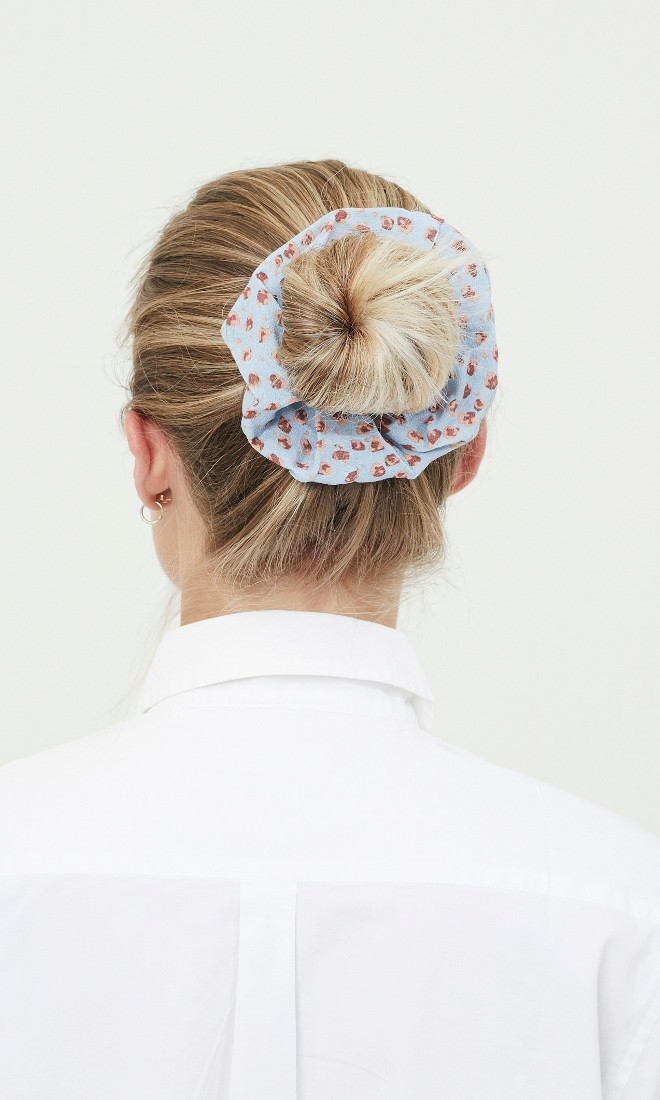 ALLI flower printed scrunchie Asley Blue