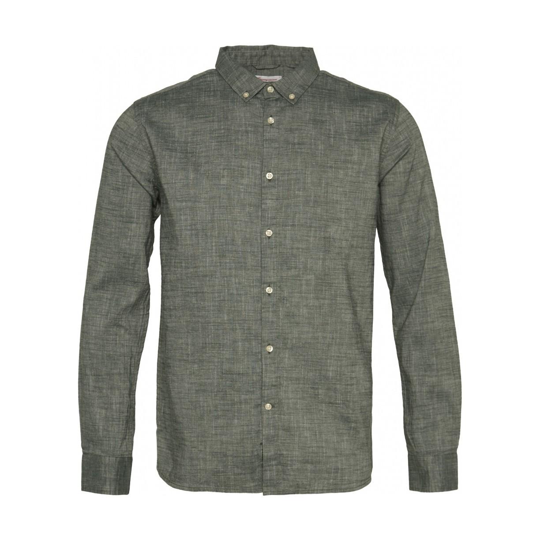 LARCH LS linen shirt Pineneedle