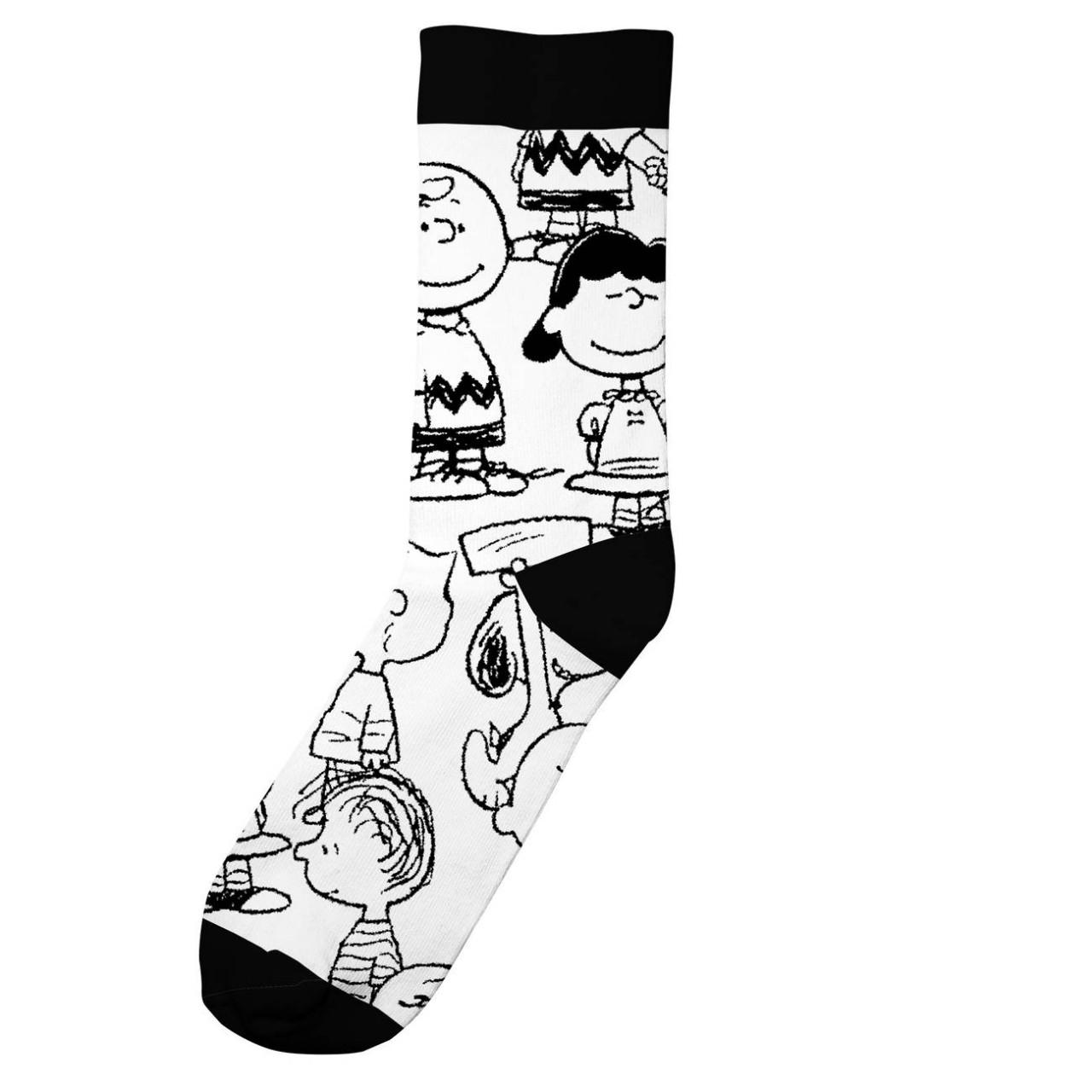 Socks Sigtuna Peanuts AOP White