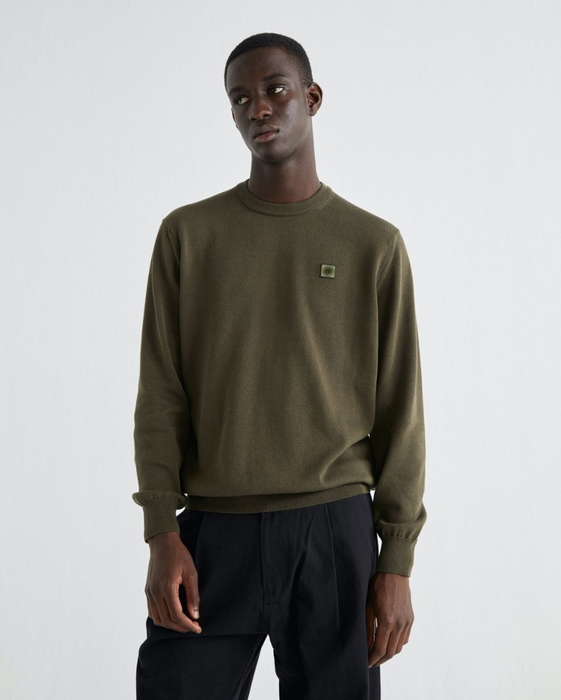 OLIVE GREEN TRASH ORLANDO KNITTED SWEATER