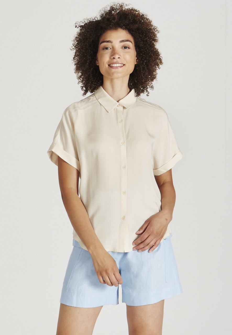 Sarah Buttoned Shirt Off White