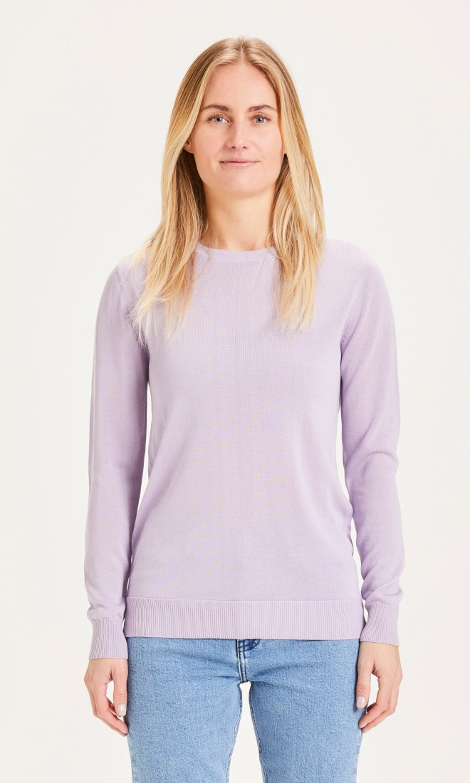 MYRTHE basic crew kneck Tencel knit - Vegan Pastel Lilac
