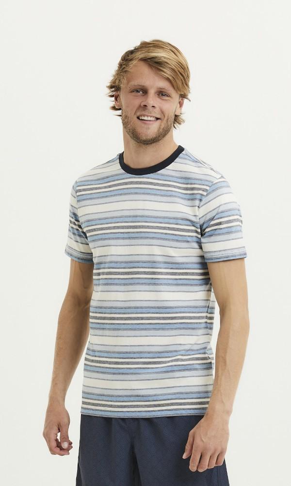 ALDER striped tee Asley Blue