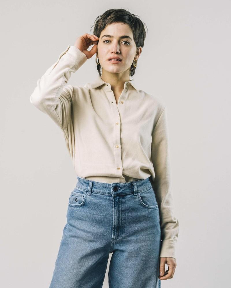 Cosy Flannel Regular Shirt Ecru