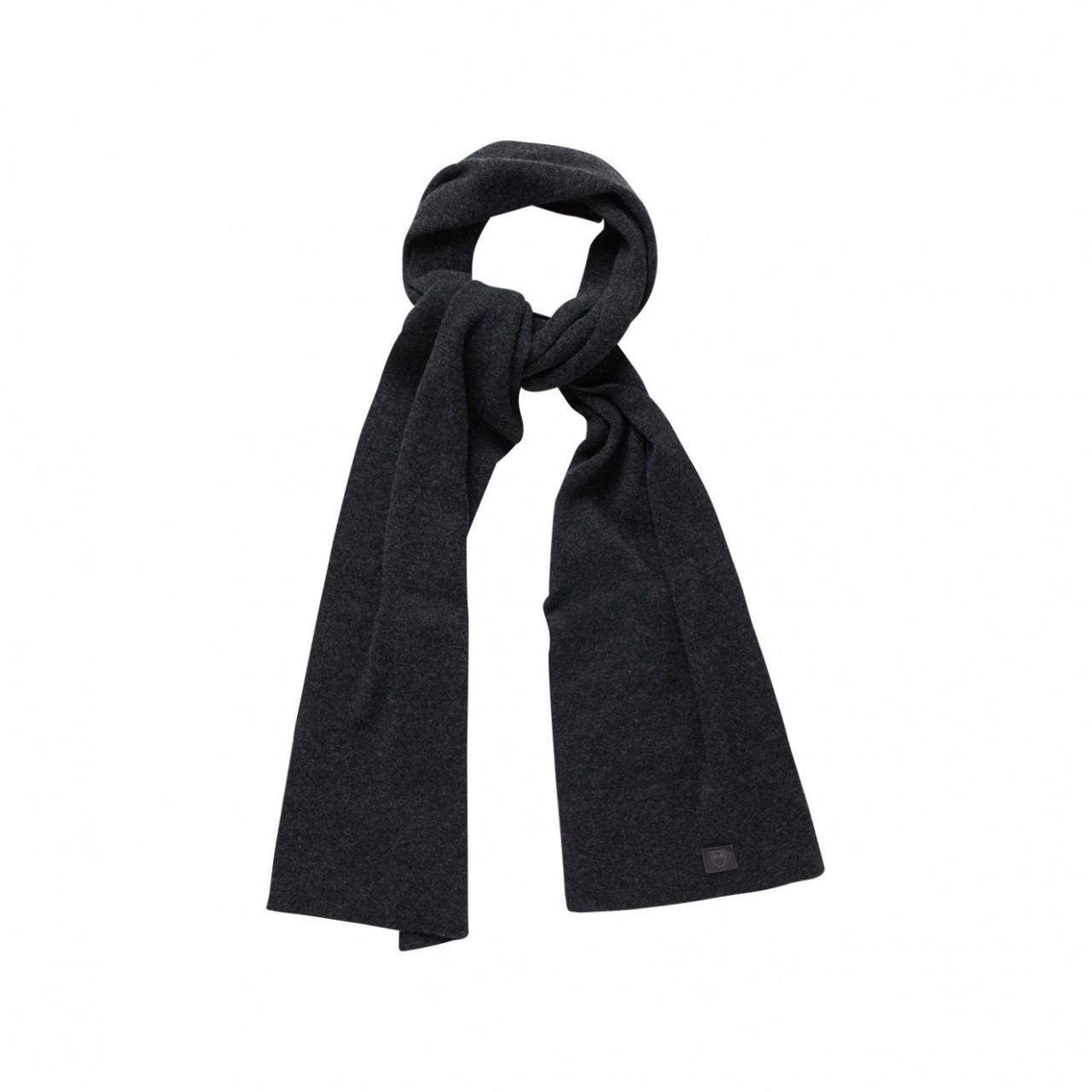 JUNIPER organic wool scarf Dark Grey Melange