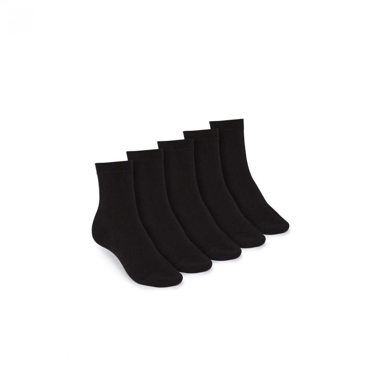 Mid-Top Socken 5er Pack Black