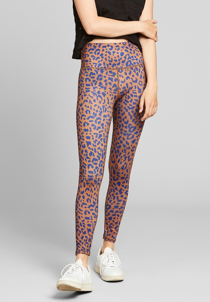 Tights Kaxholmen Leopard Light Brown