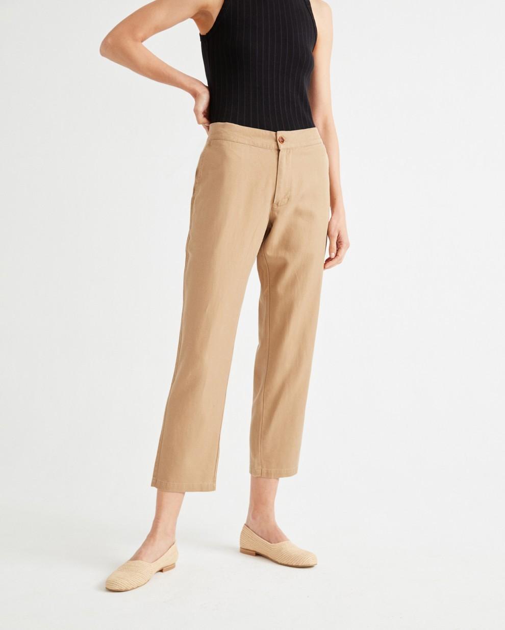 CAMEL HEMP DAPHNE PANTS