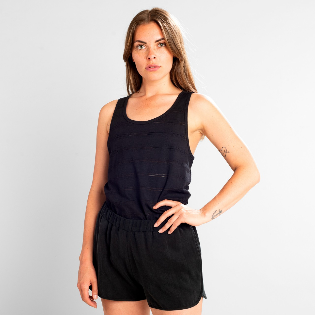 Top Nora Lace Jersey Black